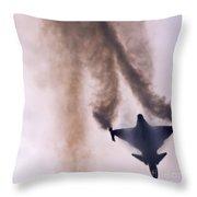 Fallen Angel Throw Pillow by Angel  Tarantella