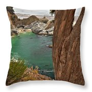 Falling Into The Bay Throw Pillow by Adam Jewell
