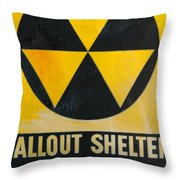 Fallout Shelter Throw Pillow by Olivier Le Queinec