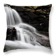 Falls At Melville Throw Pillow by Andrew Pacheco