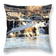 Falls Park Waterfalls Throw Pillow by Lori Tordsen