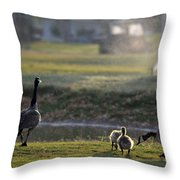 Family Affair Throw Pillow by Camille Lopez