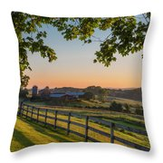 Family Farm Throw Pillow by Bill  Wakeley