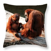 Family Time Throw Pillow by Trever Miller