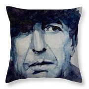 Famous Blue Raincoat Throw Pillow by Paul Lovering