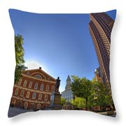 Faneuil Hall Square Throw Pillow by Joann Vitali