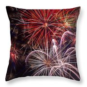 Fantastic Fireworks Throw Pillow by Garry Gay