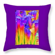 Fantasy Flowers Throw Pillow by Margaret Saheed