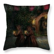 Fantasy - Into The Night Throw Pillow by Mike Savad