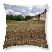 Farm Castle Throw Pillow by Olivier Le Queinec
