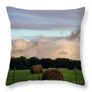Farm Field Drama Throw Pillow by Dan Sproul