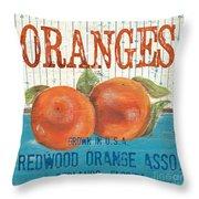 Farm Fresh Fruit 2 Throw Pillow by Debbie DeWitt