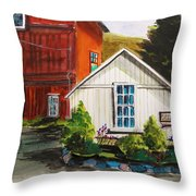 Farm Store Throw Pillow by John  Williams