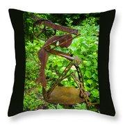 Farm Worker Throw Pillow by Carolyn Marshall