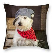 Farmer Dog Throw Pillow by Edward Fielding