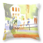 Farmers Market II Throw Pillow by Kip DeVore