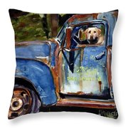 Farmhand Throw Pillow by Molly Poole