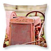 Farming Relic Throw Pillow by Scott Pellegrin