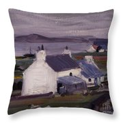 Farmsteading Throw Pillow by Francis Campbell Boileau Cadell