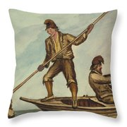 Faroese islanders Circa 1862 Throw Pillow by Aged Pixel
