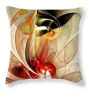 Fascinated Throw Pillow by Anastasiya Malakhova