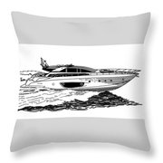 Fast Riva Motoryacht Throw Pillow by Jack Pumphrey