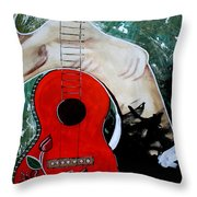 Fat Bottom Girls You Make This Rocking World Go Round Throw Pillow by Amy Sorrell