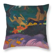 Fatata Te Miti  Throw Pillow by Paul Gauguin