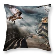 Fateful Crossing Throw Pillow by Christina Rollo