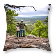 Father And Son Throw Pillow by Tamyra Ayles