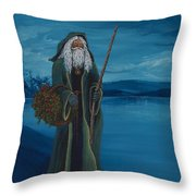 Father Christmas Throw Pillow by Darice Machel McGuire