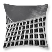 Fbi Building Side View Throw Pillow by Olivier Le Queinec