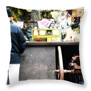 Fear Sells Throw Pillow by Kevin J Cooper Artwork