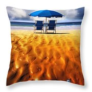 Feather Light Throw Pillow by Mal Bray