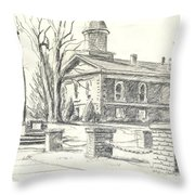 February Morning  No Ctc102 Throw Pillow by Kip DeVore