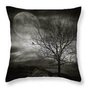 February Tree Throw Pillow by Taylan Soyturk