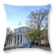 Federal Reserve Building Throw Pillow by Olivier Le Queinec