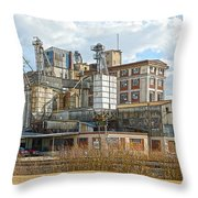 Feed Mill Hdr Throw Pillow by Charles Beeler