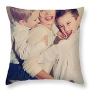 Feel The Joy Throw Pillow by Laurie Search