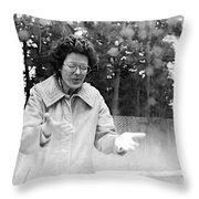 Feeling Rain Throw Pillow by Rory Sagner