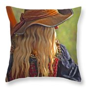 Female Pirate Throw Pillow by Tom Gari Gallery-Three-Photography