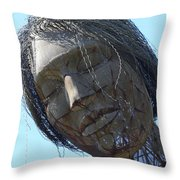 Female Sculpture On San Francisco Treasure Island 7D25445 Throw Pillow by Wingsdomain Art and Photography