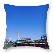 Fenway Park- Home Of The Boston Red Sox Throw Pillow by Diane Diederich