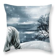 Ferocious Beauty Throw Pillow by Lourry Legarde