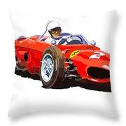 Ferrari Dino 156 1962  Throw Pillow by Yuriy  Shevchuk