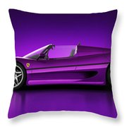 Ferrari F50 - Neon Throw Pillow by Marc Orphanos