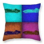 Ferrari Testa Rossa Pop Art 1 Throw Pillow by Naxart Studio