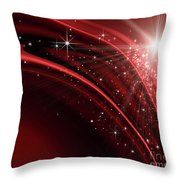 Festive Holiday Background Throw Pillow by Sandra Cunningham