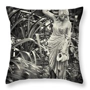 Fetching Water Throw Pillow by Patrick M Lynch