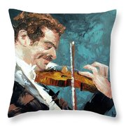 Fiddling Around Throw Pillow by Anthony Falbo